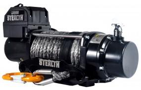 Elektrische Anhänger Offroad Seilwinde Black Motion Stealth Synth 13000LB 5,9 t 12 V