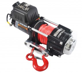 ATV/UTV Quad Elektrische Seilwinde Warrior NINJA 3500LB 1,6 t 12 V Kunststoffseil